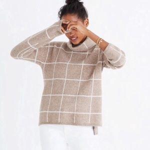 madewell | windowpane turtleneck sweater
